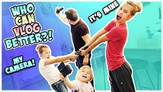 WE EACH GET 5 MINUTES TO VLOG!! WHO DID BETTER?!