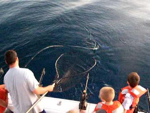 Kids Catch Really Big Fish on Lake Michigan while at Summer Camp Anokijig