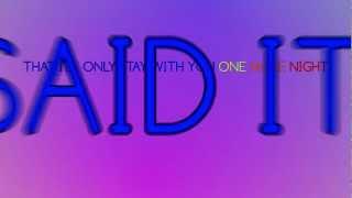 Maroon 5 - One More Night lyrics HD - video edit