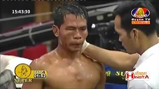 វី សុភ័ស្ស Vs សំខាន់ ប៉ាវជិន, Vy Sophose, Cambodia Vs Samkhan Bavchin, Khmer Boxing 15 Dec 2018