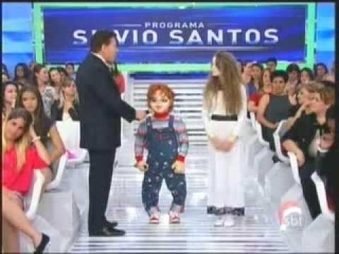 Silvio Santos conversa com Menina Fantasma e Chucky 22 12 2013