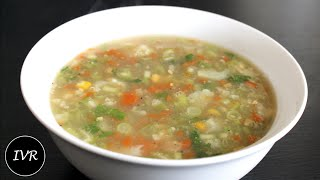 """Vegetable Sweet Corn Soup""   Indian Vegetarian Recipe"