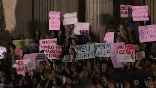 Women march after gang-rape internet video shocks Brazil