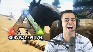 Playing ARK: Survival Evolved for the First Time!   David Lopez