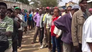 Kenya Election 2017 : The longest queue in Nairobi - polling station