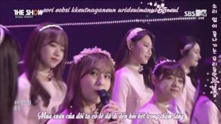 [Vietsub + Kara] 160510 I.O.I - When The Cherry Blossoms Fade @ The Show Debut Stage
