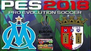 PS4 PES 2018 Gameplay Olympique Marseille vs Braga [HD]