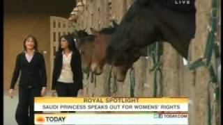 Princess Ameerah Al-Taweel Wife of Prince Alwaleed Bin Talal Interview on NBC-TODAYSHOW