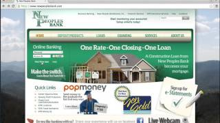 New Peoples Bank Online Banking Login Instructions