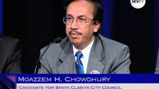 Moazzum Chowdhury at KHTS AM-1220 Santa Clarita City Council Candidate Forum