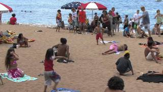 Flash Mob Tahitian Dance on Kaanapali Beach, Maui, Hawaii with Te Tiare Patitifa [OFFICIAL]