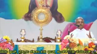 Adoration And Healing Prayer by Rev.Fr.Valerian Fernandes SVD at Divine Call Centre Mulki