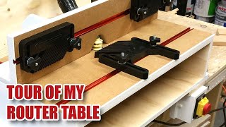 Benchtop ROUTER TABLE TOUR! Using Triton Router (TRA001 / TRB001) in a Router Table [90]