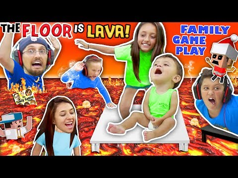 Xxx Mp4 FLOOR IS ACTUALLY LAVA CUZ WE AIN T LAZY YOUTUBERS Oh BURN FGTEEV Family Game Challenge Pool Day 3gp Sex