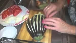 İlginç Patlıcan Yemeği Yapan Kadın, Farklı Kesim