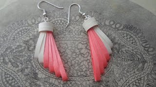 PAPER EARRINGS - How to make Beautiful Quilling Earrings Using Paper and Comb - Making Tutorial