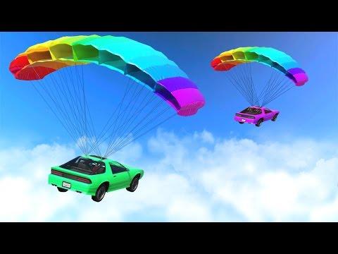 RACING WITH PARACHUTE CARS GTA 5 DLC