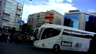 Autobus de real madrid vs sporting 2012