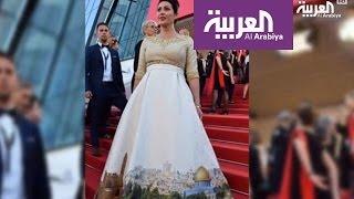 """فستان وزيرة الثقافة الإسرائيلية في مهرجان """"كان"""" يثير غضب العالم"""