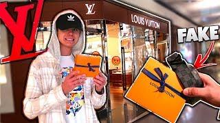 Returning FAKE LOUIS VUITTON PRANK! (They Got Mad) | David Vlas