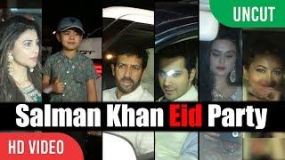 UNCUT - Bollywood Celebrities At Salman Khan's EID Party  Salman Khan EID Celebration Party 2017