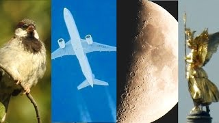 NIKON Coolpix P900 Optical Zoom Test - Moon, Planes, Bird, Church - Super Zoom