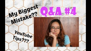 Q&A#4: Tips on Starting a Youtube Channel! My Biggest Mistake???