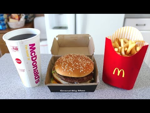 The FASTEST Grand Mac Meal Ever Eaten under 1 Minute
