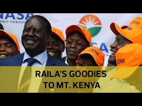 Raila's goodies to Mt. Kenya