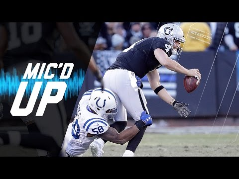 Derek Carr Mic d Up in Week 16 vs. Colts It Broke NFL Films Sound FX