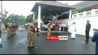Kummanam  Receiving Guard of honor from Kerala Govt