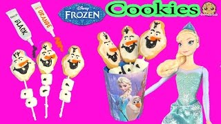 Baking Disney Frozen Olaf Marshmallow Cookie Pops - Cookieswirlc Food Video