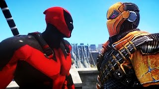 DEADPOOL VS DEATHSTROKE - EPIC BATTLE