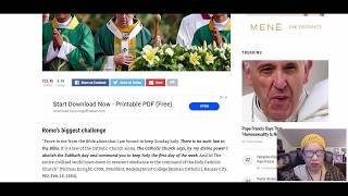POPES, NOTRE DAME, PASSOVER & URGENT MESSAGES!!! NEWS In D. BOX!