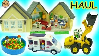 Tuesday Morning Big Playmobil Toy Haul - Babies In Ball Pit, Cars, Doll House + More