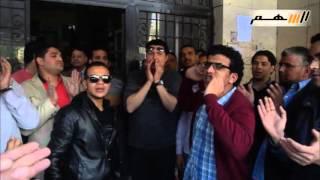 اليوم الثانى لإعتصام العاملين بـ«الأوقاف» أمام الديوان بالدقى