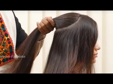 Best Wedding Hairstyle For Long Hair || Simple Quick Hairstyle for PartyFunction