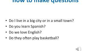 Present simple tense. English lesson