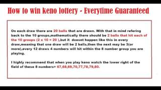 How to win keno lottery - Everytime Guaranteed 2017