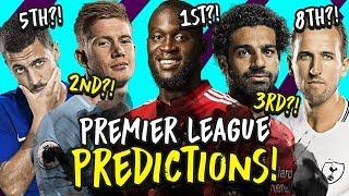 My 2018/19 Premier League Predictions | Champion, Top 4, Relegation & Top Scorer