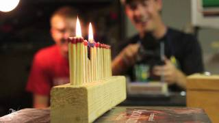 How to light multiple matches with a single bullet - Upping Mythbusters