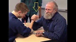 YOUNG BOY VS 70 OLD MEN  ON ARM WRESTLING