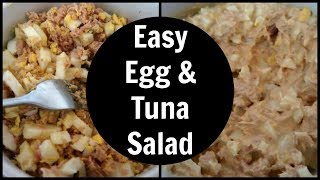 Keto Tuna and Egg Salad Recipe | Low Carb High Protein Lunch Ideas
