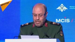 سخنرانی سردار حسین دهقان وزیر دفاع ایران در کنفرانس امنیتی مسکو
