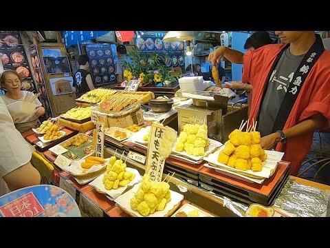 Epic Street Food Tour in Kyoto Japan Nishiki Market