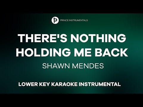 Shawn Mendes - There's Nothing Holding Me Back [ Lower Key Instrumental Karaoke ]