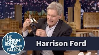 Harrison Ford Demos His Star Wars Injury Using a Han Solo Doll