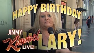 Trump Supporters Say Something Nice for Hillary Clinton's Birthday