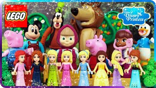 ♥ LEGO TOP 10 Home of Disney Princess Cartoons (Masha and the Bear, Frozen, Mickey, Donald Duck...)
