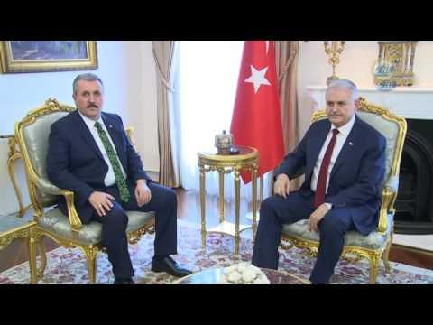 Başbakan Yıldırım, BBP Genel Başkanı Destici'yi Kabul Etti
